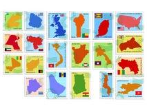Coleção de selo do vetor Foto de Stock