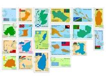 Coleção de selo do vetor ilustração stock