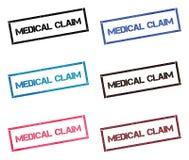 Coleção de selo retangular da reivindicação médica ilustração do vetor