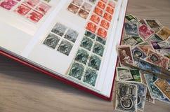 Coleção de selos Imagens de Stock