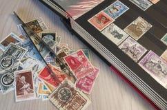 Coleção de selos Imagem de Stock Royalty Free
