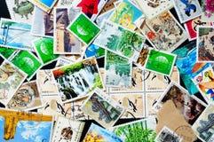 Coleção de selos chineses Fotografia de Stock