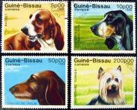 Coleção de selos do cão. Imagens de Stock Royalty Free