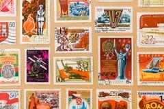 Coleção de selos do cargo Fotografia de Stock Royalty Free