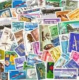 Coleção de selos do transporte do vintage de d Foto de Stock Royalty Free