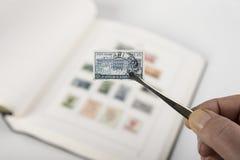 Coleção de selos velha Foto de Stock Royalty Free