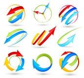 Coleção de setas da cor ilustração do vetor