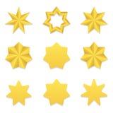 Coleção de sete estrelas do poin Foto de Stock Royalty Free