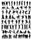 Coleção de silhuetas dos povos Imagem de Stock