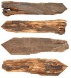 Coleção de sinais de madeira foto de stock