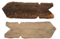 Coleção de sinais de madeira Imagens de Stock