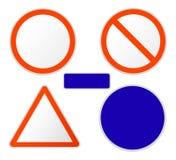 Coleção de sinais de tráfego Fotografia de Stock