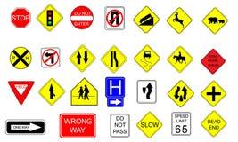 Coleção de sinais de tráfego Foto de Stock Royalty Free