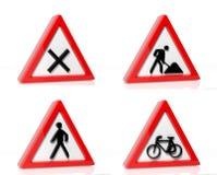 Coleção de sinais de tráfego Fotografia de Stock Royalty Free