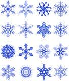 Coleção de snowflakes3. Ilustração do vetor Foto de Stock Royalty Free