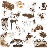 Coleção de splatters da lama Fotografia de Stock Royalty Free