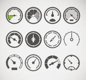 Coleção de Sspeedometers Fotos de Stock Royalty Free