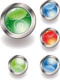 Coleção de teclas lustrosas da cor. Fotos de Stock