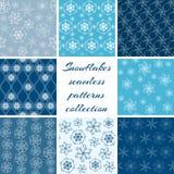 Coleção de testes padrões do floco de neve Imagem de Stock Royalty Free