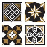 Coleção de testes padrões do Ornamental do vintage Fotografia de Stock Royalty Free