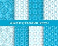 Coleção de 8 testes padrões sem emenda geométricos ilustração royalty free