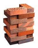 A coleção de tijolos enfrentando isolou trajeto de grampeamento incluído Fotos de Stock Royalty Free