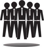 Coleção de trabalhadores de escritório e de equipe do negócio Imagens de Stock