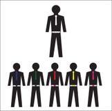 Coleção de trabalhadores de escritório e de equipe do negócio Imagens de Stock Royalty Free