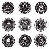 Coleção de várias etiquetas dos queques Fotografia de Stock Royalty Free