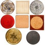 Coleção de várias pousas-copos da tabela fotos de stock