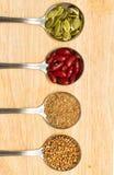 Coleção de vários ingredientes de alimento Imagens de Stock