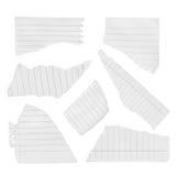 Coleção de vários pedaços de papel rasgados Fotografia de Stock