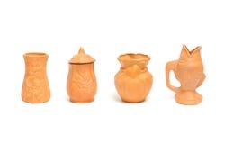 Coleção de vasos da argila para jardinar Imagem de Stock