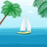 Coleção de veículos náuticos: barco de vela, navio, embarcação, luxo ilustração royalty free