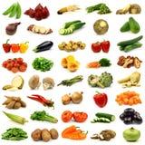Coleção de vegetais frescos e coloridos Fotos de Stock