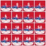 Coleção de velas do número do aniversário Fotografia de Stock Royalty Free