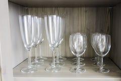 Coleção de vidros de vinho Fotografia de Stock
