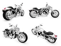 Coleção de vistas isoladas bicicletas Imagem de Stock Royalty Free