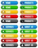 Botões Home dos serviços dos produtos Fotos de Stock Royalty Free