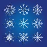 Coleção decorativa dos flocos de neve Imagem de Stock Royalty Free