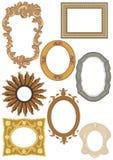 Coleção decorativa dos frames imagens de stock royalty free