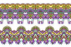 Coleção decorativa floral do teste padrão à impressão da tela Fotos de Stock