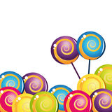 Coleção deliciosa colorida do lollipop Foto de Stock Royalty Free