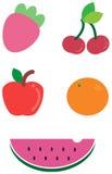 Coleção deliciosa da fruta Imagem de Stock Royalty Free