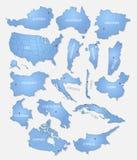 Coleção detalhada dos países Fotografia de Stock Royalty Free