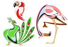 Coleção diferente dos animais dos desenhos animados foto de stock