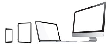 Coleção digital moderna do dispositivo da tecnologia Imagem de Stock
