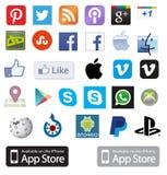 Coleção do ícone Fotos de Stock Royalty Free