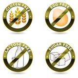 Coleção do ícone da dieta Fotografia de Stock Royalty Free
