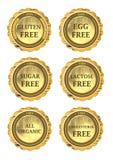 Coleção do ícone da dieta Fotos de Stock Royalty Free
